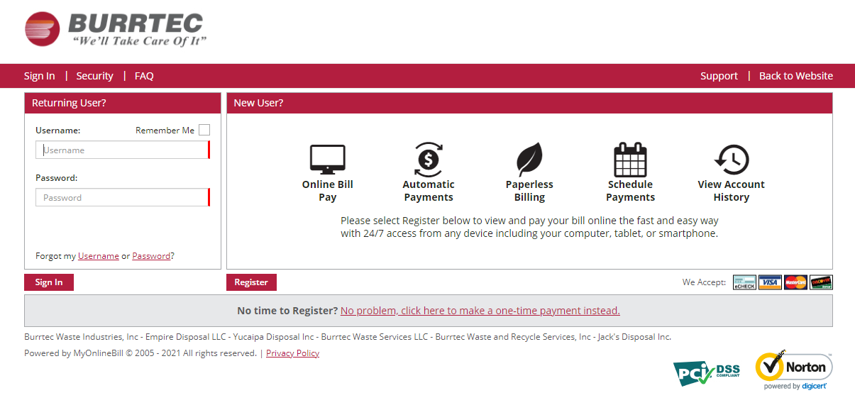 Burrtec Online Bill Pay
